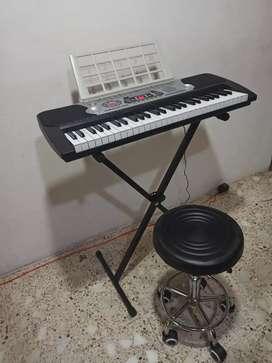 Teclado Piano  con usb pedestal y banco