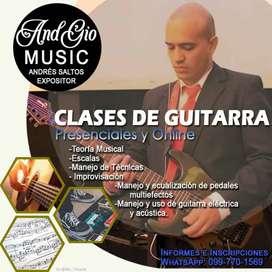 Clases de Guitarra Online y Presencial
