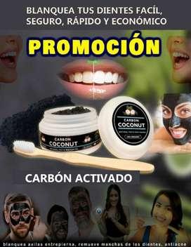 Carbón activado para desmanchar dientes y zonas oscuras externas
