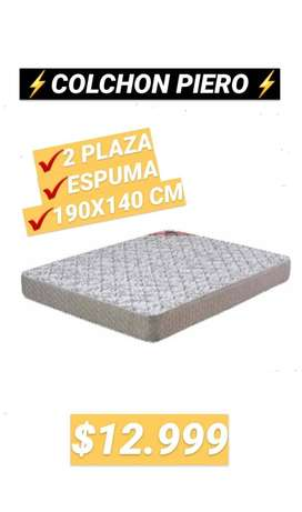 COLCHON PIERO  2PLAZA - ESPUMA 190X140 CM