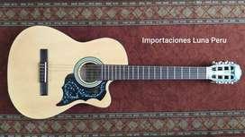 guitarra de adultos color madera natural