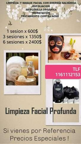 Limpieza Facial Profunda, con energía Galvánica