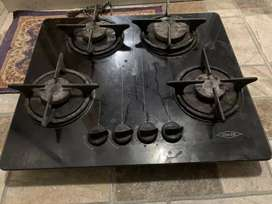 Estufa empotrada a gas marca HACEB 60 cms