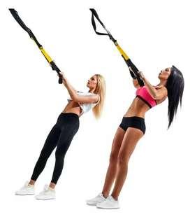 Bandas TRX o Bandas de suspensión. ¡Perfectas para ejercicio en casa o en exteriores!