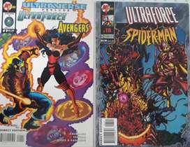 COMICS ULTRAFORCE/ AVENGERS.  UNTRAFORCE/ SPIDERMAN SET X 2 COMICS