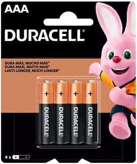 Pilas Duracell AAA x 4