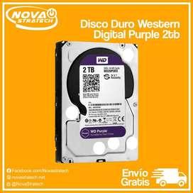 Disco Duro Western Digital Púrpura 2Tb VideoVigilancia 24/7Servidores