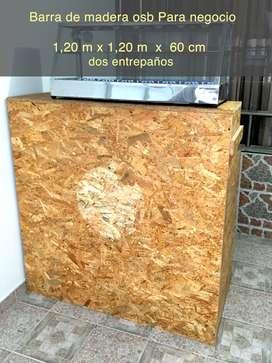 Barra madera osb para negocio
