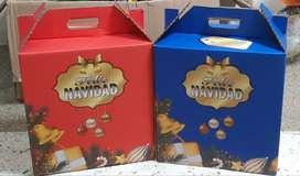 Canasta navideñas caja cartón cod 73882