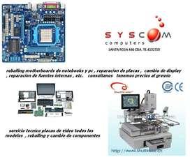 servicio tecnico especializado de computacion reparamos la electronica y realizamos reballing