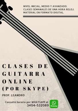 Clases de Guitarra por WebCam (vía Skype)