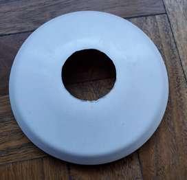 Repuesto ventilador cobertor de base blanco 13 cm