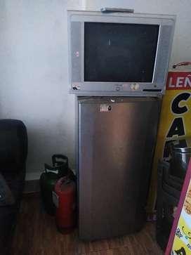 Vendo frigider más balón de gas y tv