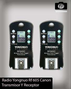 Disparador Yongnuo Rf 605 Transmisor Y Receptor