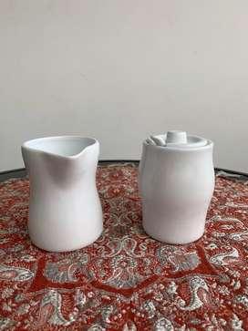 Azucarera Y Lechera en Porcelana