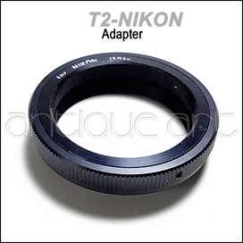 A64 Adaptador Para Lente Montura T2 Rosca Camaras Nikon F