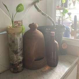 Antiguo Bebedero Aves Decoracion Jardin- cocina- lavadero