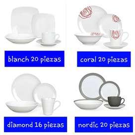 Vajillas de porcela marca Warenhaus