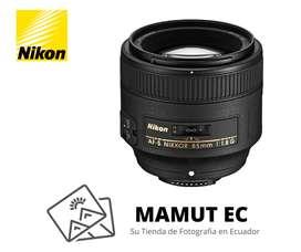 Nikon Lens Af-s Nikkor 85mm F/1.8 G