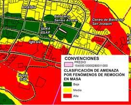 Se realiza ZONIFICACIÓN DE AMENAZA POR FENÓMENOS DE REMOCIÓN EN MASA