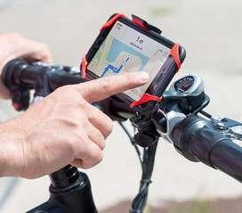 Soporte para llevar el celular en la bicicleta.