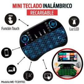 Mini Teclado Inalambrico Retroiluminado Touchpad Smarttv/tvBox/Laptop/Pc.