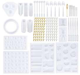 229 moldes de resina de fundición de joyería DIY más de 120 diseños incluyendo collar de joyería colgante moldes grandes