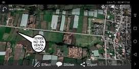 Terreno en venta a 500 m del cementerio de Chambo, vía al Vergel