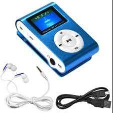 mp3 mini de color azul