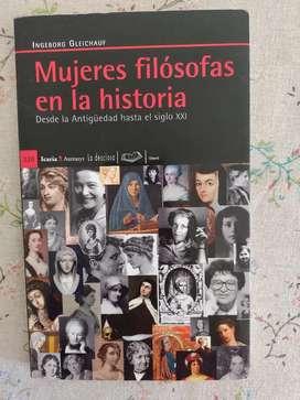 Mujeres filósofas en la Historia Ingeborg Gleichauf. Editorial Icaria