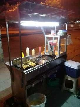 Se vende carreta de comida rápida