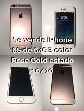 iPhone 6S de 64GB BARATO ESTADO 10/10 Color Rose Gold