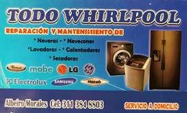 Reparación y mantenimiento de neveras y lavadoras en Medellín, Servicio 100% garantizado