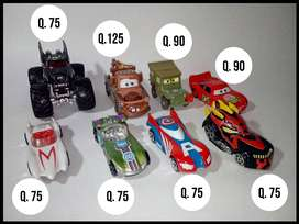 Carritos, Hot Wheels, Cars, Sargento, Tow Mater, Rayo Mcqueen, Capitan America, Meteoro, Match 5, Buzz, Batman, Darth