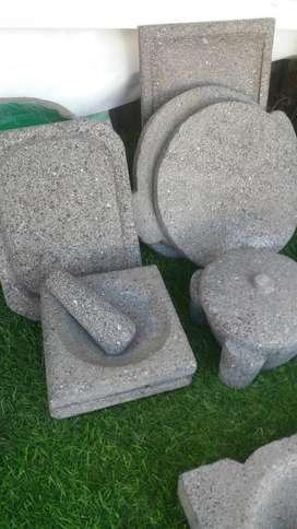 Piedra Volcanica Plancha de Asar Platos