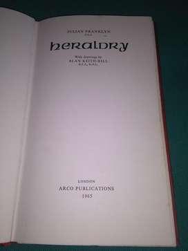 HERALDRY . JULIAN FRANKLYN 1965 EN INGLES LIBRO HERALDICA