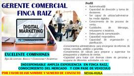 GERENTE COMERCIAL FINCA RAIZ