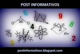 Clases particulares de matemáticas y química.