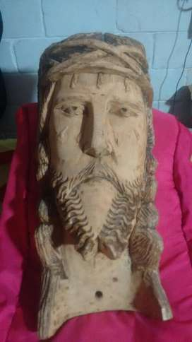 Rosto de Cristo Talla en Madera