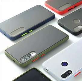 Case Semitransparente Mate Samsung A10/ A20/ A30/ A50/ A70/ A10S/ A20s/ A30s/ A50s/ A70s Antihuellas