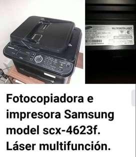 Fotocopiadora Impresora Samsung model scx-4623f. Laser multifunción.