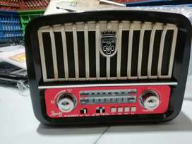 Radio am FM SW vintage estilo antiguo retro con Bluetooth USB SD recargable