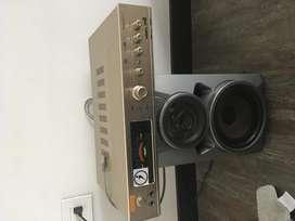 Sonido amplificador y 2 parlantes