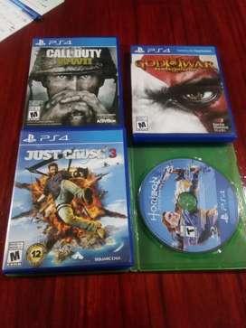 Vendo juegos de PS4.