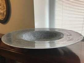 Platón decorativo cristal italiano