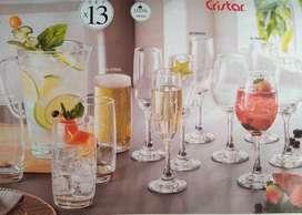 set jarra + vasos y copas