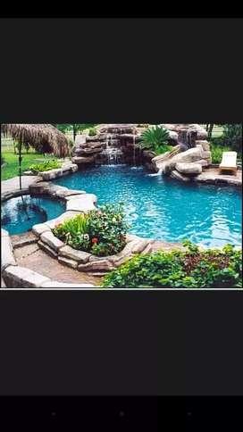 Hacemos piscinas modernas, perforación de pozos artecianos