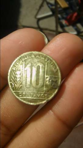 Moneda libertad 10 centavos 1949