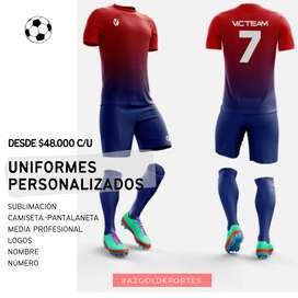 UNIFORMES FUTBOL PERSONALIZADOS