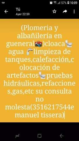 Plomeria y albañilería en gueneral